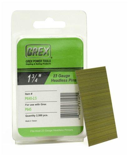 (GREX P6/45-2.5 23 Gauge 1-3/4-Inch Length Headless Pins (2,500 per box))