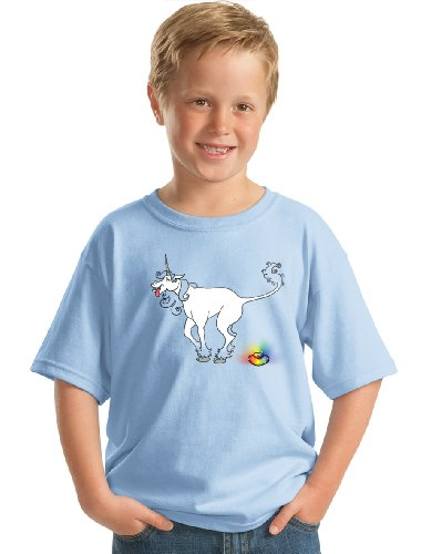 UNICORN POOPING A RAINBOW TURD Youth T-shirt / Tee for Fans of Unicorn Poo