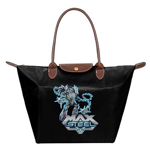 HAULKOO Max Steel Waterproof Nylon Bags For Women Black - Max Steel Dredd Costume