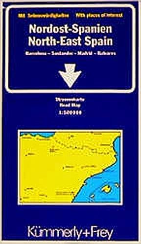 Carte Espagne Nord Est.Amazon Fr Carte Routiere Espagne Nord Est Cartes Kummerly