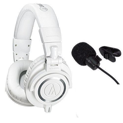 Audio-Technica-ATH-M50xWH-Professional-Studio-Monitor-Headphones-With-in-line-mic