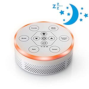 Dream Zone White Noise Sound Machine – Relaxing Sleep Therapy for Home, Office, Baby & Study – 6 Unique Music Settings, Timer, USB Charging Ports & Flickering Night Light – (White)