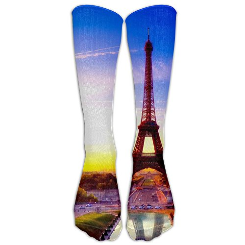 France National Costume Men (France-eiffel-tower Sport Tube Compression Soccer Socks For Men And Women - Running & Fitness - Best Medical, Nursing, Travel & Flight Socks)