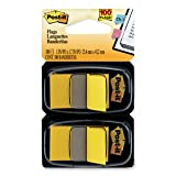 Post-it 680YW2 Standard Page Flags in Dispenser, Yellow, 100 Flags/Dispenser
