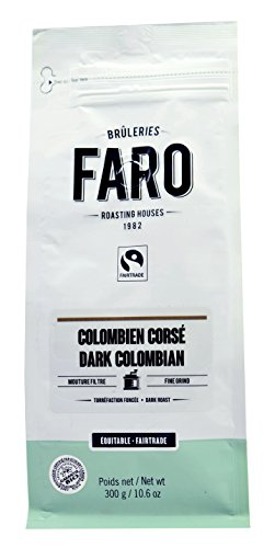 Faro Roasting House Dark Colombian Filter Grind Coffee 10Oz  Organic And Fair Trade 100  Arabica Dark Roast Bold Coffee   Fresh Ground Coffee  10 Ounce Bag