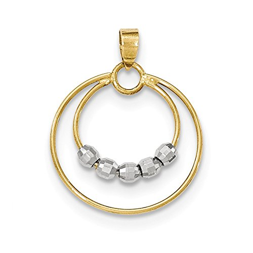 Jewel Tie 14K Two Tone Open Wire Circle Pendant