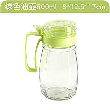 XIAOYANJIA Restaurante condimento botella flor botella de aceite salsa de chile jarra hogar vidrio transparente a