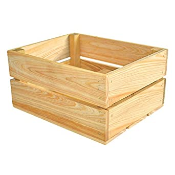 """Crate Farm Raw Peck Orchard Crate 12-1/4"""" x 9-1/2"""" x 6"""""""