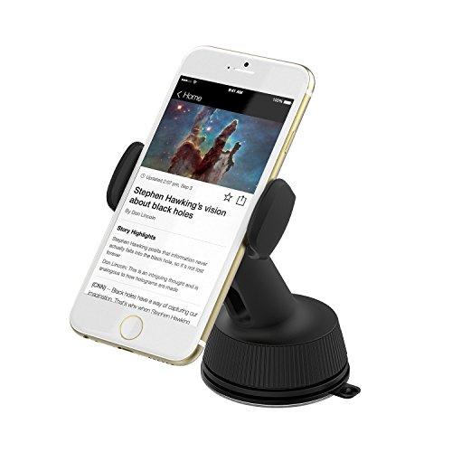 Sabrent Universal Car Window / Dash Mount Holder for most Smartphones devices [Black] (CM-SPHB)