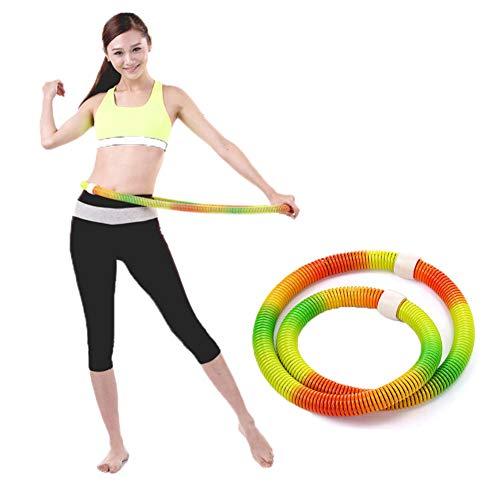 ZYFWBDZ Hula Hoop Increased Hula Hoop PVC Color Spring for Ladies Adult Abdomen to Reduce Belly