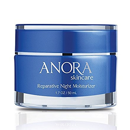 Anora Skincare Reparative Night Moisturizer, Natural Ingredients, Peptides, Argan Oil, Hyaluronic Acid, Shea Butter, Helps Heal & Repair Skin, Provides Deep Intense Hydration (1.7 oz / 50 ml)