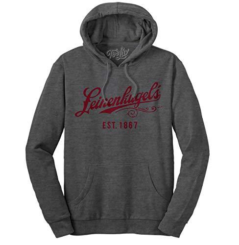 Tee Luv Leinenkugel's Beer Hoodie - Leinenkugels Hooded Beer Sweatshirt (LG) Charcoal - Leinenkugels Beer