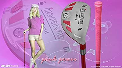Integra Petite Women's iDrive Golf Club Hybrid Pitching Wedge (PW) Lady Flex Right Handed New Utility L Flex Club Perfect for Petite Shorter Women 4'10 to 5'3 Tall by PGC