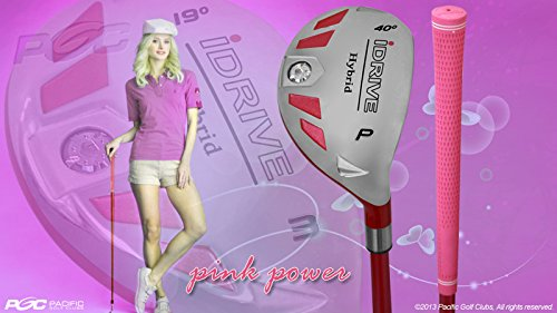 Integra Petite Women's iDrive Golf Club Hybrid Pitching Wedge (PW) Lady Flex Right Handed New Rescue Utility L Flex Club Perfect for Petite Shorter Women 4'10 to 5'3 Tall