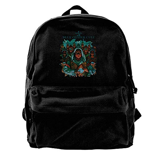 MaryMShea Canvas Backpack Blue Oyster Cult Fashion Laptop Bag