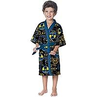 Roupão Aveludado Infantil Quimono Batman M 1 peça Preto - Lepper