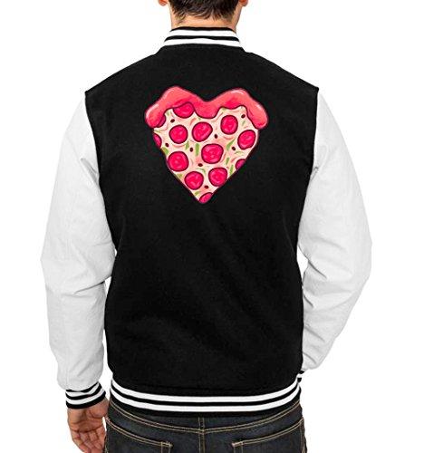 Pizza Love College Vest Black Certified Freak