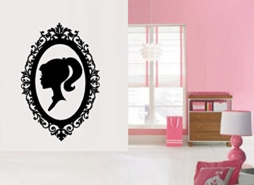 Barbie Silhouette in Vintage Frame ~ WALL DECAL 22
