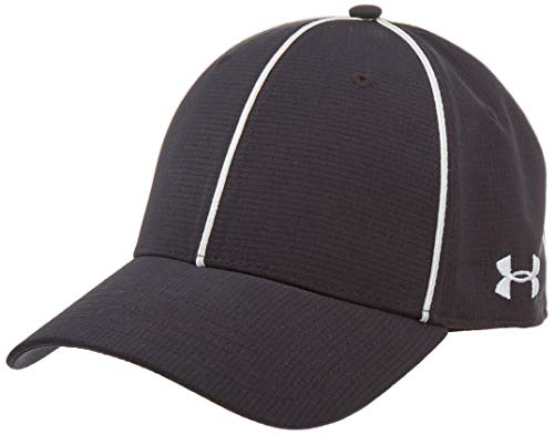 Under Armour Men's Referee Cap, Black (001)/White, Large/X-Large