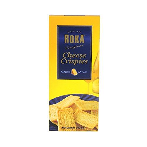 Roka - Gouda Cheese Crispies - 100g (Case of 16) - Roka Gouda Cheese