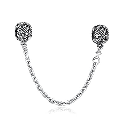 Glamulet Jewelry 925 Sterling Silver Safety Chains Fits Pandora Bracelet
