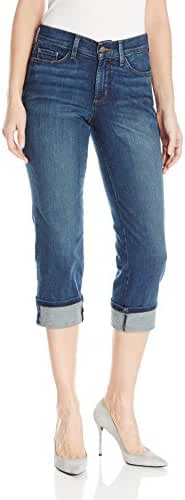 NYDJ Women's Dayla Wide Cuffed Capri Jeans In Stretch Indigo Denim
