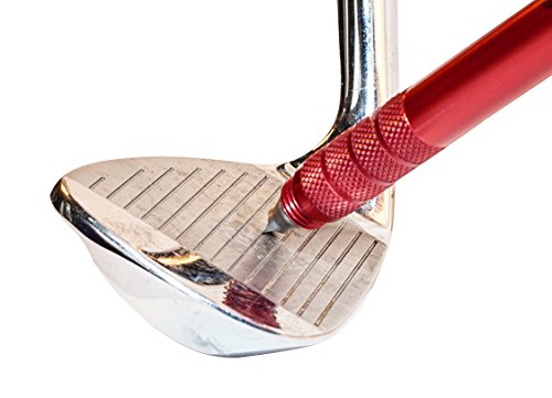 TruGroove Golf Club Groove Sharpener - Improved Backspin and Ball Control - Wedges and Irons - with 2 Free Color Matched Ball Markers - Lifetime Warranty - Made in USA