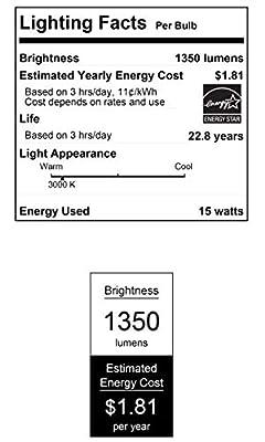 Westinghouse Lighting 5311000 15 (90-Watt Equivalent) PAR38 Flood Dimmable Bright White Indoor/Outdoor Energy Star, Medium Base LED Light Bulb, Clear
