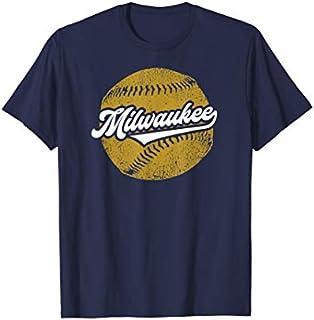 Milwaukee Baseball | Vintage Brewer Baseball Retro Gift T-shirt | Size S - 5XL