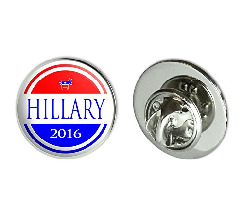 Hillary 2016 Democrat Logo Hillary Clinton for President Round Metal Lapel Hat Pin Tie Tack Pinback