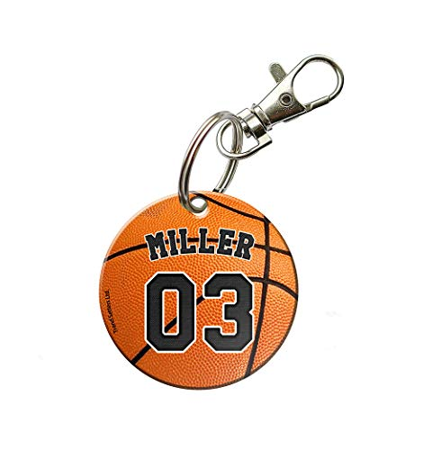 Personalized Basketball Keychains (Trend Setters Sports - Basketball Keychain - Personalized -Acrylic Keychain - Fused)