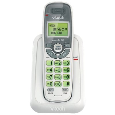 Vtech Vtcs6114 Dect 6.0 Single Handset Cordless Phone With Caller - Telephone Single Dect