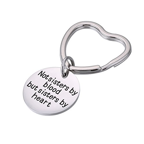 Best Friends Keychain Not Sisters By Blood But Sisters By Heart