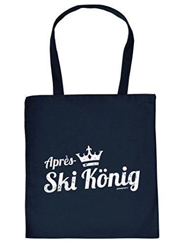 Tasche Apres Ski Henkeltasche Beutel mit Aufdruck Tragetasche Must-have Stofftasche Geschenkidee Fun Einkaufstasche
