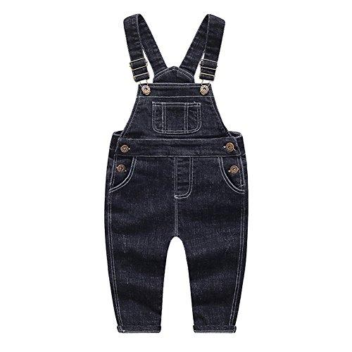 Denim Baby Overall Boys - Kidscool Baby & Little Boys/Girls Big Bibs Soft Black Denim Overalls