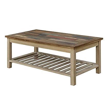 Amazon Com Pemberly Row Oscar Coffee Table With Open Storage