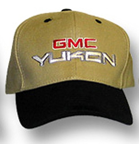 A&E Designs GMC Yukon Truck Hat - Fine Embroidered Cap (Khaki/Black) (Gmc Yukon Ebay)