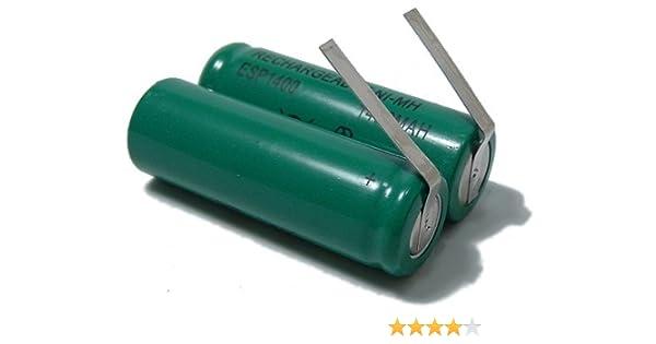 Batería de repuesto para los afeitadora corporal Braun, Philips ...