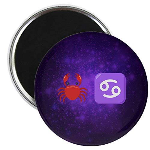 "CafePress Emoji Cancer Zodiac 2.25"" Round Magnet, Refrigerator Magnet, Button Magnet Style"