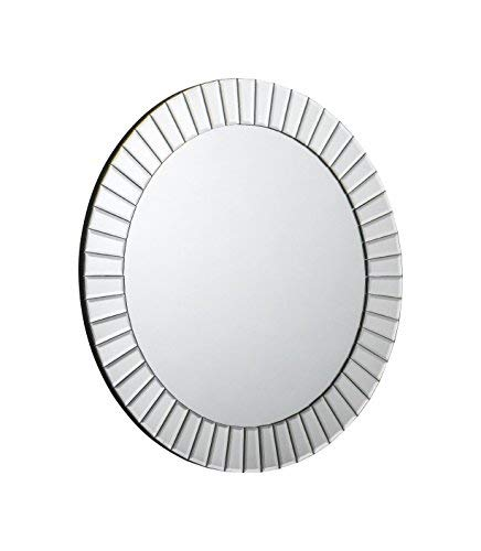 in legno massiccio Julian Bowen Sonata specchio rotondo abito da appendere alla parete vetro smussato bevelled glass