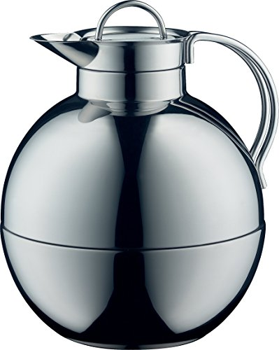 alfi Kugel Glass Vacuum Polished Thermal Carafe for Hot and Cold Beverages, 0.94 L, Stainless Steel by Alfi