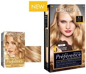 L Oreal Recital Preference hair color suave 8.3 Rubio Claro