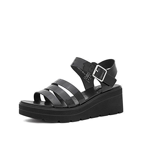 basso a DHG piatti tacco Sandali alti basso moda 34 Sandali tacco Sandali estivi alla da Tacchi Nero casual Pantofole donna con gaqA6g