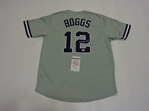 Signed Wade Boggs Jersey - grey HOF 05 3010 Witness - JSA Certified - Autographed MLB Jerseys (Wade Jersey Boggs Autographed)