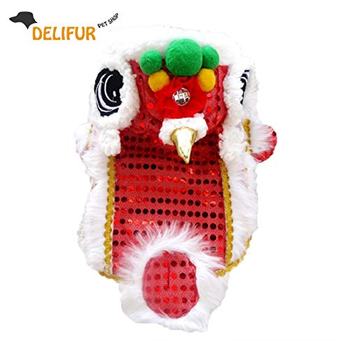 Chinese New Year Lion Dance Costumes - Delifur Cute Dance Lion Pet Costume