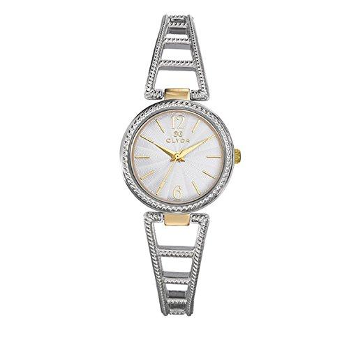 Clyda – cla0685bbix – Reloj Mujer Acero Bicolor Reloj cisselé écru