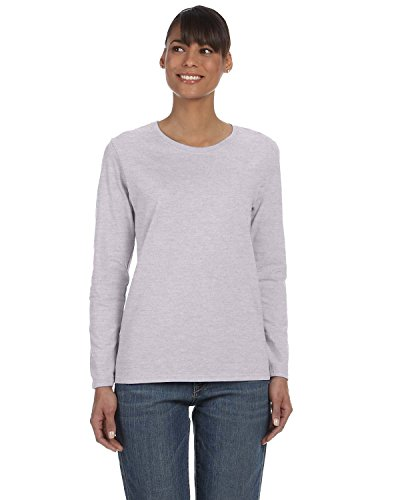 Gildan Heavy Cotton Ladies Missy Fit Long-Sleeve T-Shirt, 3XL, Sport Grey