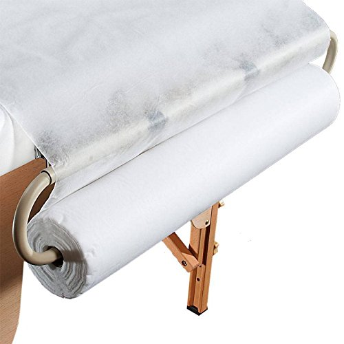 Premium Disposable Bedroll By Luna Beauty | Hygienic Non-Woven Massage Bed Sheets | Soft & Convenient Exam Table Paper Rolls | Lightweight & Thick Waxing Chair Covers | Antibacterial & Safe by Luna Beauty