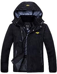 Men's Hooded Sportswear Windbreaker Outdoor Insulated Windproof Rain Jacket