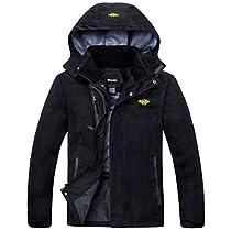 Wantdo Mens Hooded Sportswear Windbreaker Outdoor Insulated Windproof Rain Jacket